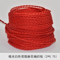 electrical wiring - 2 MM2 Edison Vintage red cloth twisted electrical wire copper conductor retro electrical wire pendant light lamps line m