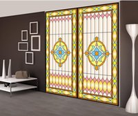 art window film - Transparent Sticker Opaque Wardrobe Glass Stickers Pervious To Light Film Window