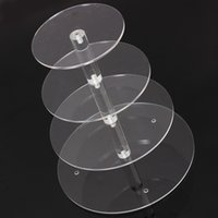 baking shop - Hot Brand New Assemble and Disassemble Round Acrylic Tier Cupcake Cake Stand For Birthday Wedding Party Cake Shop Home