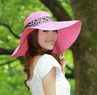 Wholesale A14 Beautiful Sun Hats for Woman Sun Protection Hats with Cloth Ribbon Mixed Order Dropshipping