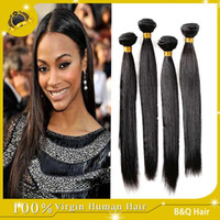hair extensions - Brazilian Hair Human Hair Weave Virgin Brazilian Hair Bundles Unprocessed Peruvian Indian Malaysian Cambodian Straight Hair Extensions A