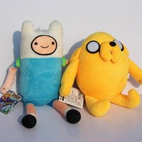 adventure figure - Cartoon Network Adventure Time JAKE and FINN Plush Toy doll Soft Stuffed Toys