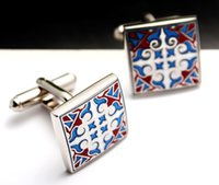 Wholesale 2016 High quality Royal decorative pattern vintage pattern Brand cuff buttons Crystal cuff link Wedding spiderman men s shirts cufflin