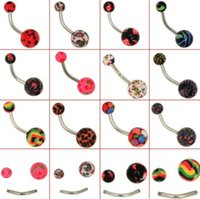 Wholesale Punk sexy Belly Button Navel Rings Barbell Body Piercing Jewelry Bulks
