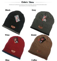 Wholesale outdoor hat knitting hat autumn winter earmuffs ski cap autumn winter cap fleece hat