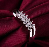 Cheap 925 sterling Silver fashion charm Beautiful pretty women CZ diamond Austria Crystal Wedding ring jewelry mens rings stainless steel