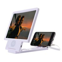 android video stand - 3D Enlarged Screen Video Frequency Folding Magnifier Amplifier Eyes Display for IOS Android Phones Holder Stand Built in Speaker up
