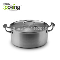 Wholesale 2016 All Clad Stainless Steel Tri Ply Bonded Dishwasher Safe Quart Dutch Oven with Lid Casserole Cookware Silver