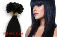 Perruque perruque cheveux droits U Tip Keratin cheveux extensions 100% cheveux humains pré collé ongles cheveux 18''20''22''24''26''inch bon marché