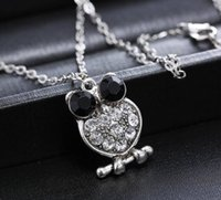 arrival meaning - 2016 new arrival rhinestone owl necklace retro necklace mean and women necklace with cm chain drop delivery popular style cm