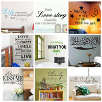 wall quotes - DHL Ship Various Wall Quotes Stickers Decorative Wall Decal Quote and Sayings Cartoon Wallpaper Party Decoration Letters Wall Art Poster
