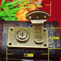 antique wooden suitcase - 10PCS mm Antique suitcase on the lock salute wooden buckle metal buckle left right lock padlock latch