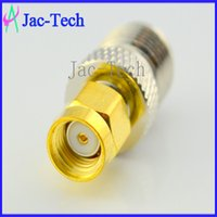 Industrial industrial material - 100Pcs straight RP SMA male to RP TNC female RF coax connector brass material