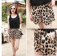Organic Grain - S Women s Trendy Leopard Grain Leisure Shorts Bandwidth Casual Stretchy Pants