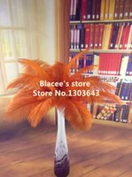 Wholesale NEW prices orange ostrich feather for wedding decor or table decor