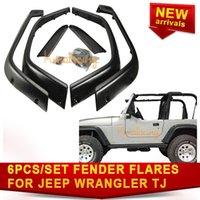 Wholesale 6PCS SET of quot Fender Flare For Jeep Wrangler TJ Black ABS plastic HIGH QUALITY