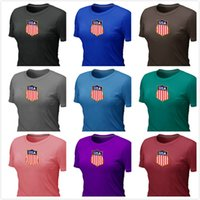 locker - Cheap women Team USA Hockey Winter Olympic KO Collection Locker Room Short Sleeve O Neck Cotton TShirt Color