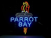 beer rum - MORGAN PARROT BAY SPICED RUM NEON LIGHT SIGN HANDICRAFT BEER BAR PUB REAL GLASS TUBE GAMEROOM x14 quot