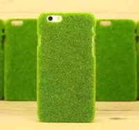 abs funny - Funny Shibaful Green Grass Lawn Plush Hard Plastic Mobile Phone Cases For iPhone Plus with Original packaging