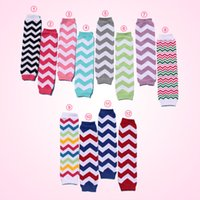 leg warmers - Stock Cute Kids Leg Warmer Polyester And Cotton Chevron Leg Warmer For Infant Baby Girls Leg Warmer pair Per Dozen