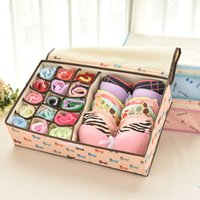 Wholesale Beightening underwear storage box covered bra finishing box panties storage box storage box Foldable Bra Socks Tie Divider Boxes