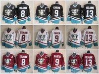 anaheim - CCM Anaheim Cheap Mighty Teemu Selanne Paul Kariya Ducks White Black Burgundy A C Heritage Nhl Classic Throwback Ice Hockey Jersey