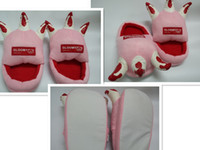 Wholesale Fahion Anime GLOOMY BEAR Paw Soft Pink Plush Slipper