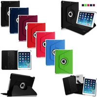 360 keyboard case - 360 Rotate Flip Stand PU Leather Tablet Smart Case Cover With Bluetooth Keyboard For iPad Mini
