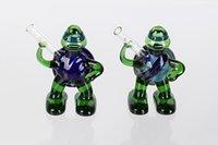 Wholesale New Design of Ninja Turtles CM Green Glass Smoking Pipes Mini Glass Bongs For Smoking