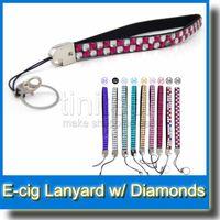 beautiful lanyards - 2015 Hot sale bling diamond lanyard crystal diamond Beautiful Design Necklace String Neck Chain Lanyard for EGO series e cigarette