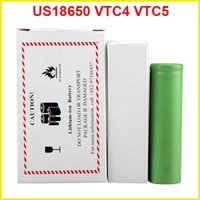 Wholesale US18650 VTC5 mAh VTC4 mAh V Li ion battery clone for E cigarette Manhattan King Nemesis Stingray Mechanical mods