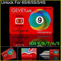 achat en gros de x sim 4s-Le nouveau E-papier Gevey déverrouille la carte de Sim Perfectionnez le déverrouillage ios9 8 7.X pour l'iphone 6S plus 6 5s 6plus 4s ATT T-mobile Sprint Rsim WCDMA CDMA 4G 3G