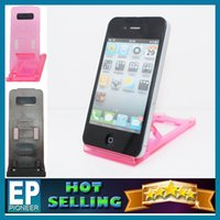 Cheap Cheap plastic transparent Cell Phone Mounts For Iphone Samsung LG Sony Nokia cell phone holder With retail packaging