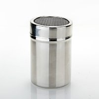 Wholesale Good Quality Stainless Steel Chocolate Powder Shaker Duster for Cappuccino Coffees with Lid