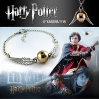 Wholesale Christmas Gift Fashion harry potter golden snitch bracelet fashion hot movie harry potter quidditch bracelet harry potter bracelet
