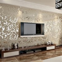 Wholesale Hot Sale Roll m European Style Luxury Wallpaper Home Decoration Wall Paper Damask Victorian Embossed Textured dp672136