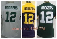 aaron rodgers jersey womens - Factory Outlet New Aaron Rodgers womens Elite Football Jersey stitched Rodgers girls size S XXL green navy gold white ladies jersey