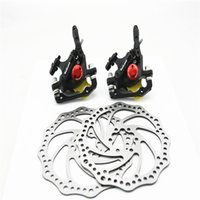 hydraulic - Cable Actuated Hydraulic Integrated Bicycle Front Rear Disc Brake Set MTB Mountain Bike mm Oil Disc Braking Rotor
