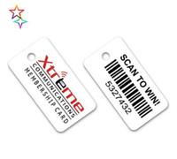 barcode key tags - custom printing plastic keytag pvc barcode key tag key fobs