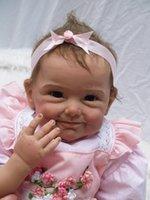 Cheap 22 inch Silicone Reborn Babies Dolls baby reborn Realistic Hobbies Handmade Baby Alive Doll For Girls Toys boneca reborn