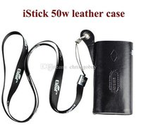 vape battery - Original Ismoka eleaf istick leather case w carry vape cases e cig pouch large with ego lanyard ring for istick w battery mod kits