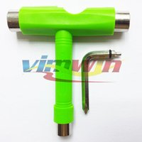 Wholesale New Arrival Pc Green Color T shape Tool All in Penny Board Tool Fit Bearing and Wheels