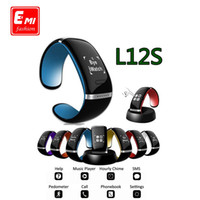 Wholesale E MI Smart Wristband L12S OLED Bluetooth Bracelet Wrist Watch Design for IOS iPhone Samsung Android Phones Wearable Electronic