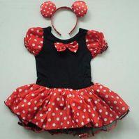 Wholesale Kids Girls Pary Fancy Minnie Mouse Costume Ballet Tutu Dress Ear Y Hot
