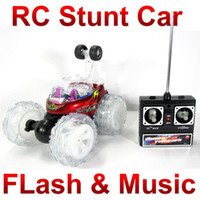 Wholesale Turbo Twister rc Remote Control Stunt Car with Flashing Lights on the Wheels rc dance car