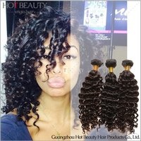 Wholesale 6A Brazilian Curly Virgin Hair Brazilian Deep Curly Human Hair Weave