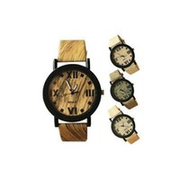 wooden hook - 2015 New men simulate wood watch hot sale Quartz male business sports high quality Wristwatch Fashion Casual Leather Watch Clock
