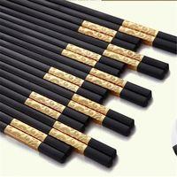 Wholesale High grade family gold chopsticks South Korea cutlery set of Japanese chopsticks Chopsticks Household items
