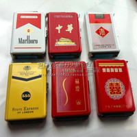 Cheap Automatic smoke ultra-thin ten pens Wholesale cigarette case with personality windproof lighter Personality cigarette(252) High Quality