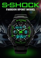 alarms men - 2015 Hot Sale Relogio Masculino Men s Sports Wristwatch LED double display watch Fashion shockproof watches for men